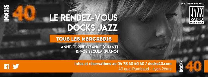 Mercredi 10 janvier - DOCKS JAZZ - Anne Sophie Ozanne