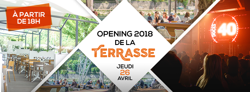 Opening terrasse 2018