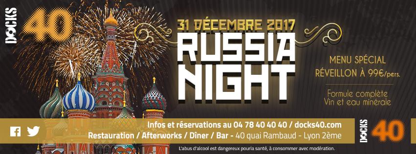Dimanche 31 décembre - RUSSIA NIGHT - Réveillon